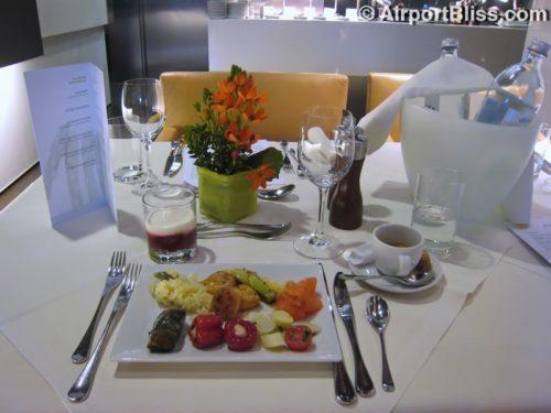 Dining at the Lufthansa First Class Terminal - Frankfurt (FRA)