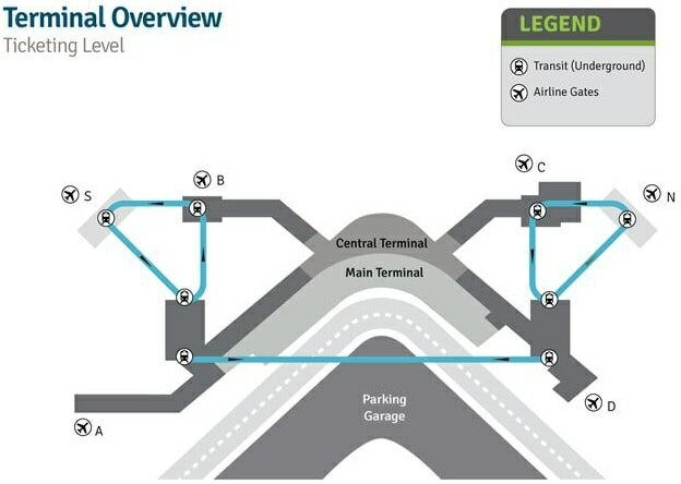Seattle-Tacoma International Airport map, © Port of Seattle