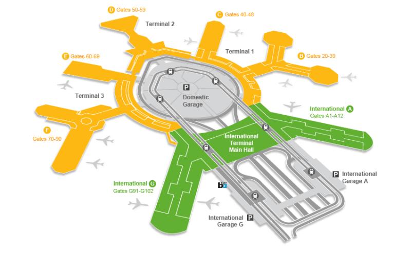 San Francisco international airport map - © San Francisco International Airport