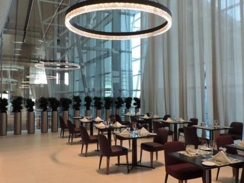 Full service restaurant at the Qatar Airways Al Safwa First Class Lounge - Doha (DOH)   © Copyright The Filipino Traveler, www.thefilipinotraveler.com