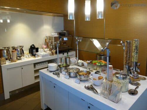 Complimentary food selection at the Delta Sky Club - San Diego, CA (SAN)