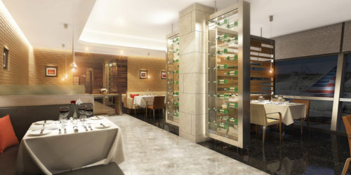 Rendering of American's Flagship Dining concept | Courtesy of American Airlines