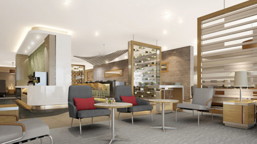 Rendering of American's new Flagship Lounge Concept   Courtesy of American Airlines