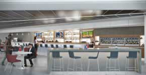 Rendering of the new Delta Sky Club ATL Concourse B | Courtesy of Delta