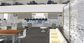 Rendering of the new Delta Sky Club at SEA | Courtesy of Delta