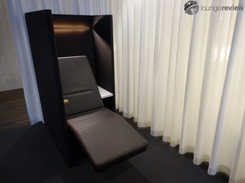 Private pods at the SWISS Lounges - Zurich (ZRH) Concourse E