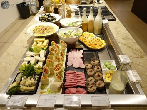 Buffet selection at the Plaza Premium Lounge - London Heathrow (LHR) Terminal 2