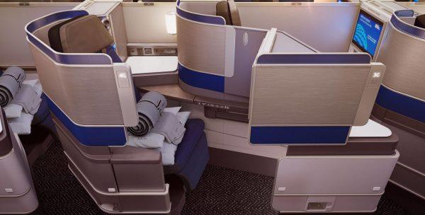 United Polaris business class seat | © United