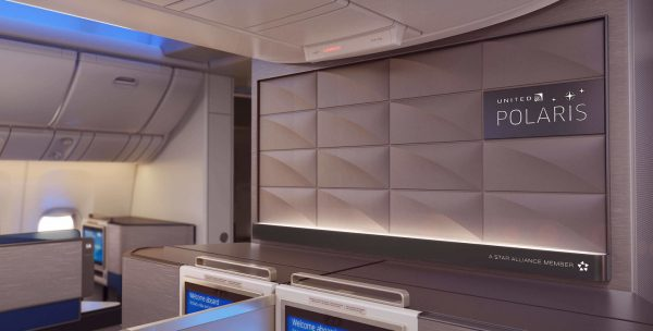United Polaris business class cabin | © United