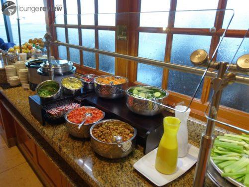 Salad bar at the United Club - San Francisco (SFO) Concourse F (Domestic)