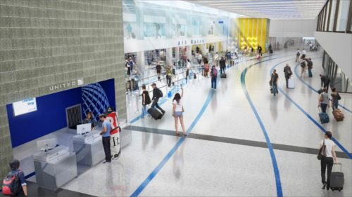 New United LAX security checkpoint at Terminal 7 | © United