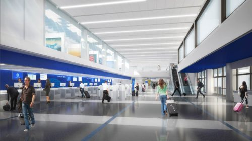 New United LAX check-in area at Terminal 7 | © United