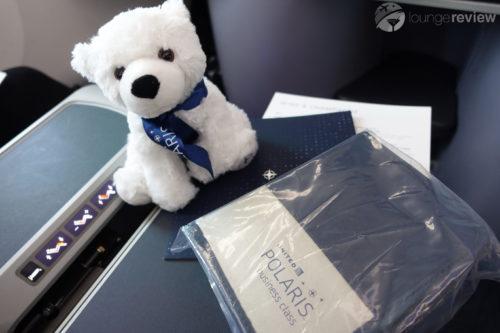 United Polaris launch day teddy bear and amenity kit