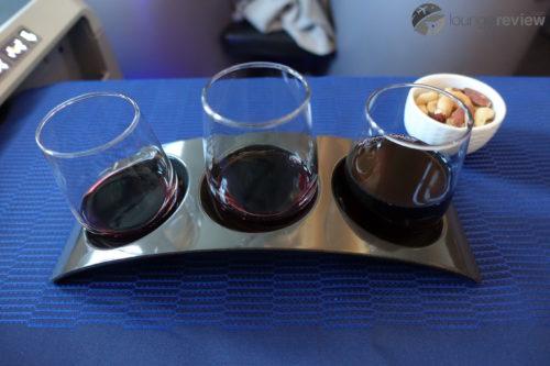 United Polaris wine flight
