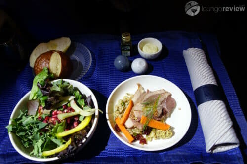 United Polaris appetizer and salad