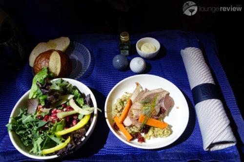 United Polaris appetizer and salad