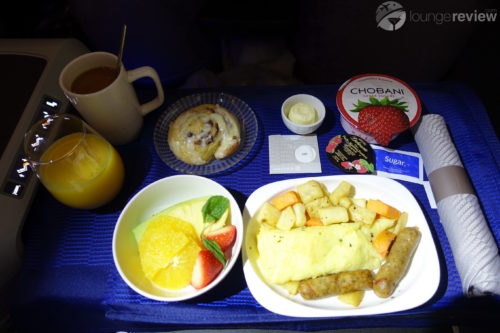 United Polaris breakfast