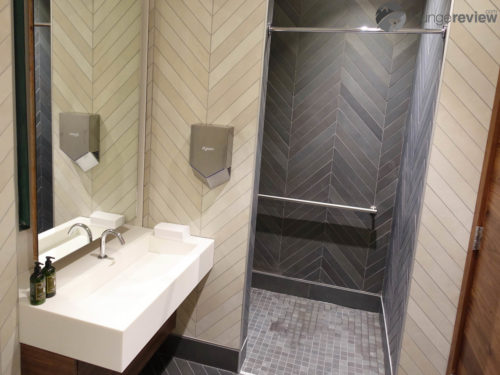 New shower suite at The Centurion Lounge Seattle