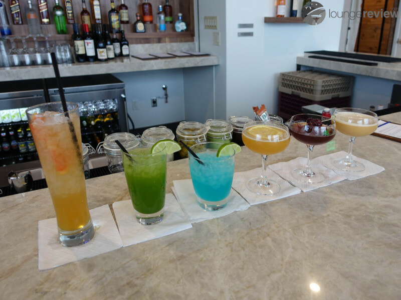 Specialty cocktails designed by Mixologist Jim Meehan at The Centurion Lounge - Seattle-Tacoma, WA (SEA)