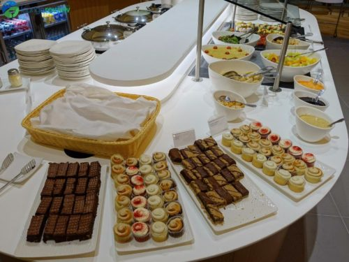 SkyTeam Vancouver Lounge buffet spread