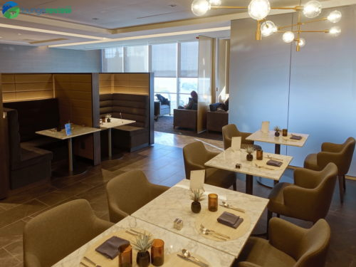 The new dedicated restaurant space.