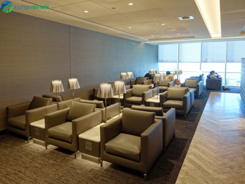 New seating area at the expanded United Polaris Lounge Chicago O'Hare