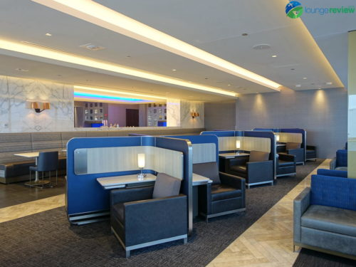 Notice the rear wall in the original United Polaris Lounge...