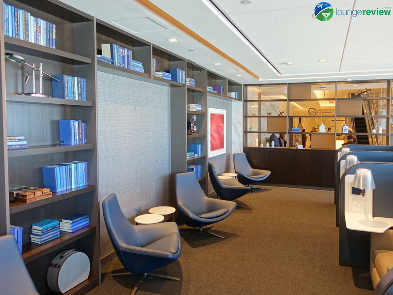 Library at the United Polaris Lounge San Francisco
