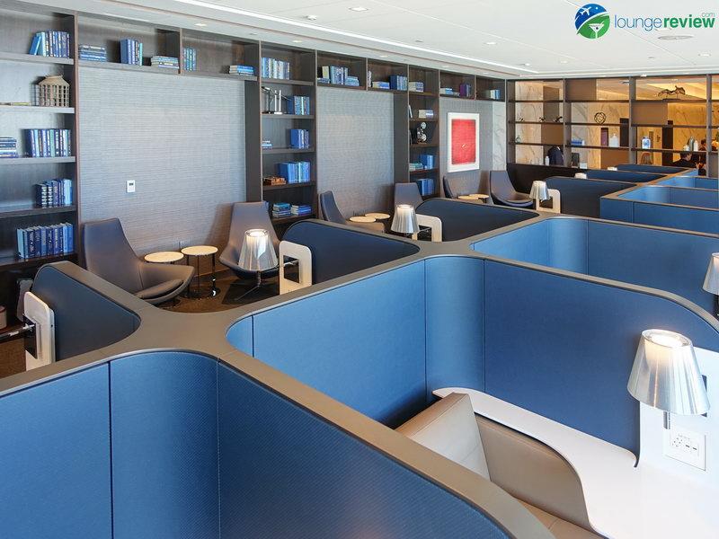 Library at the United Polaris Lounge San Francisco