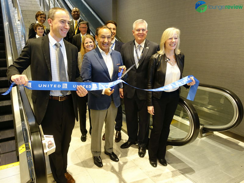 United Polaris Lounge San Francisco ribbon cutting