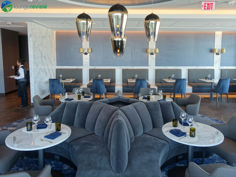 United Polaris Lounge San Francisco restaurant dining room