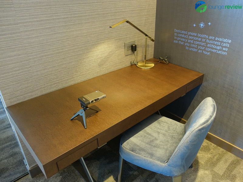 United Polaris Lounge San Francisco private work space