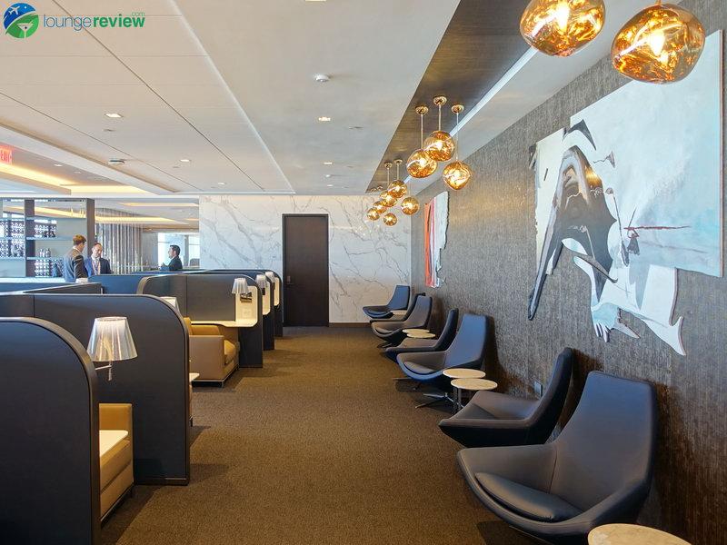 United Polaris Lounge San Francisco upper level seating area