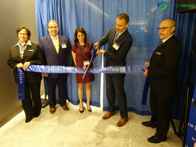 Ribbon-cutting at the United Polaris Lounge Newark (EWR)