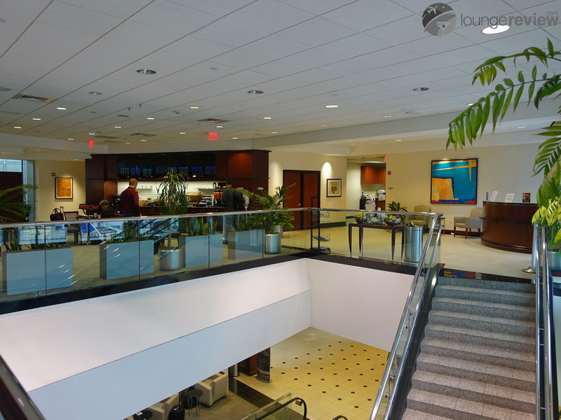 Former staircase at the United Club - Houston, TX (IAH) Terminal E