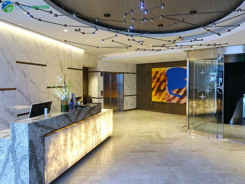 United Polaris Lounge Houston lobby