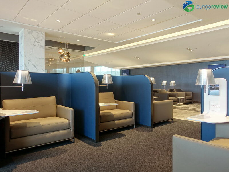 United Polaris Lounge Houston signature seats