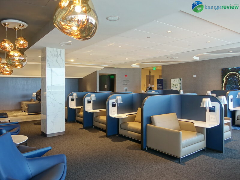 United Polaris Lounge Houston design