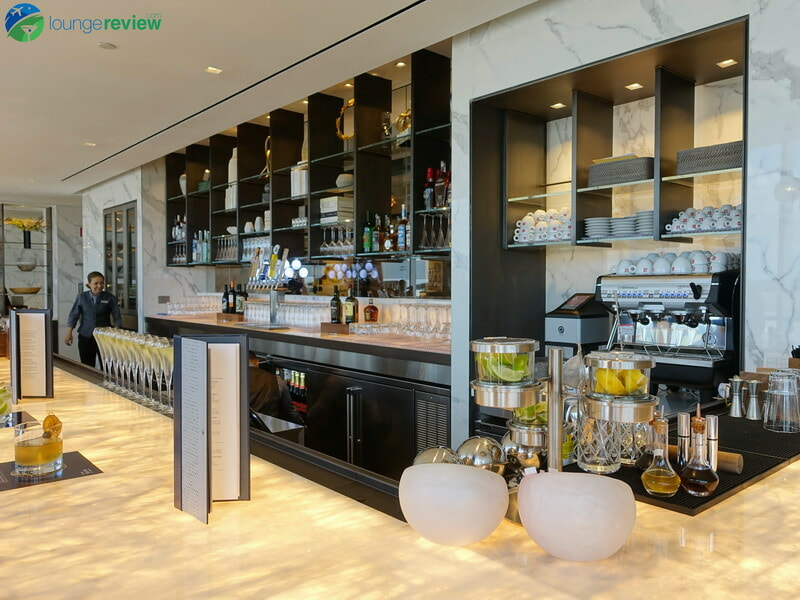 United Polaris Lounge Houston bar and espresso