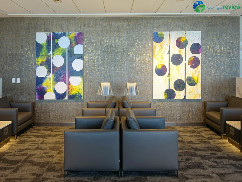 United Polaris Lounge Houston artwork