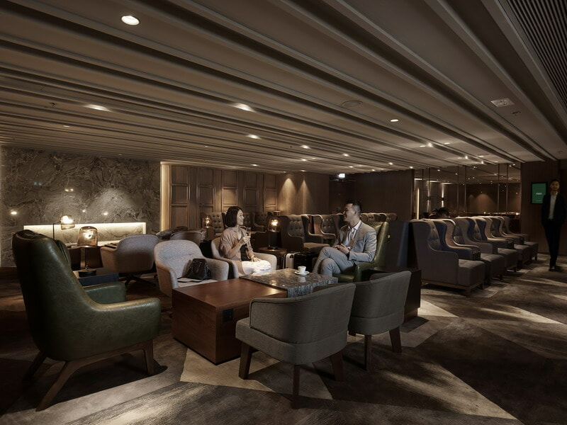 Seating area at the Plaza Premium First Lounge - Hong Kong (HKG)