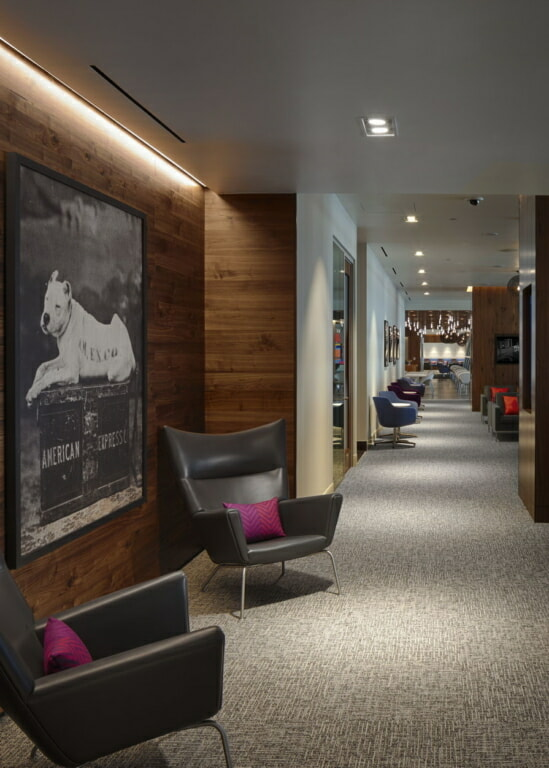 American Express The Centurion Lounge Dallas-Ft. Worth (DFW) hallway