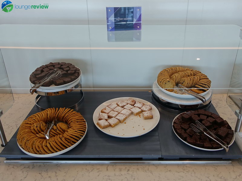 Dessert selection at the United Club LAX