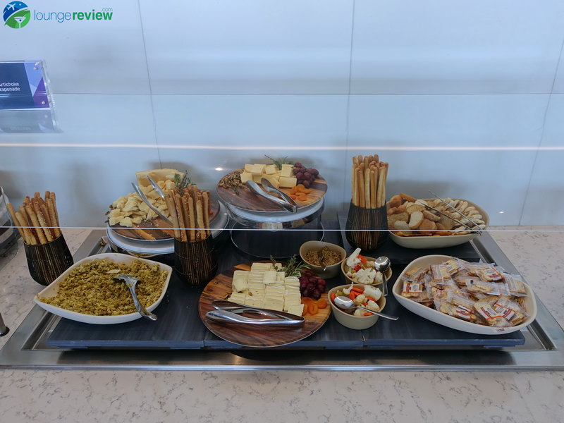 Cheese spread at the United Club LAX