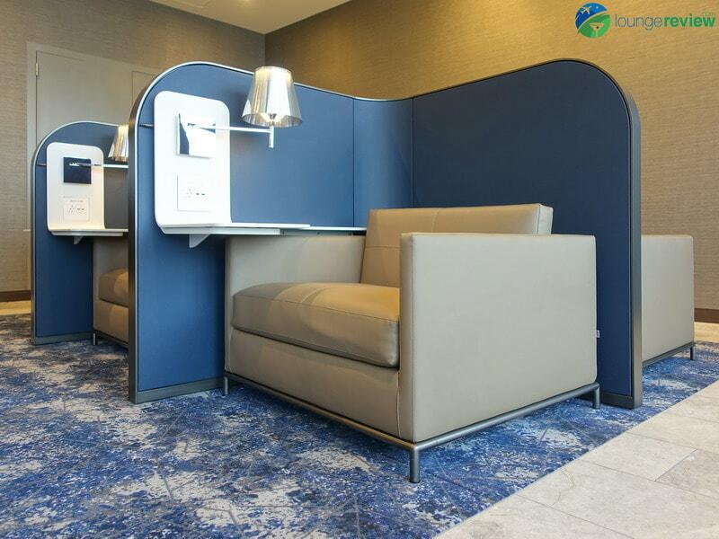United Polaris Lounge LAX signature seat