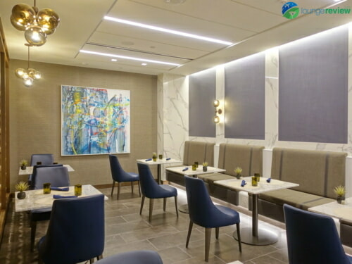 United Polaris Lounge LAX dining room