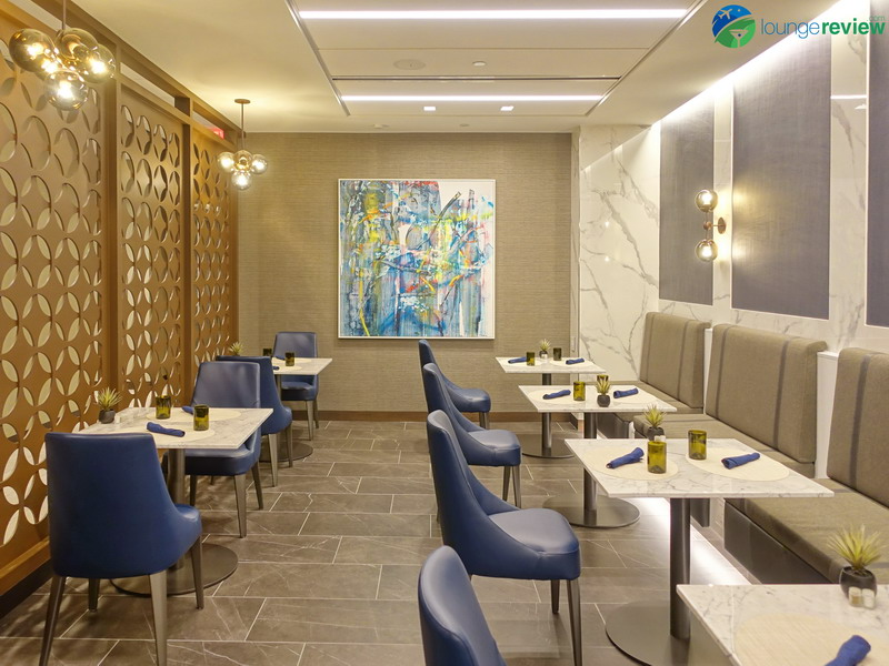 United Polaris Lounge full-service dining room