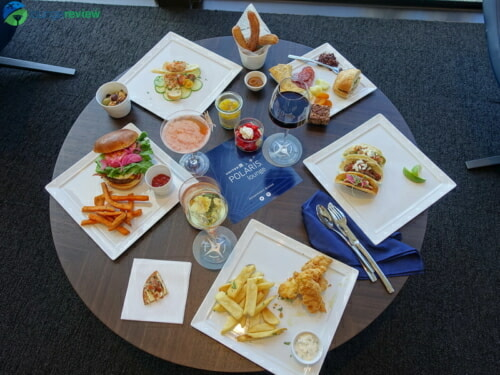 United Polaris Lounge food sampler