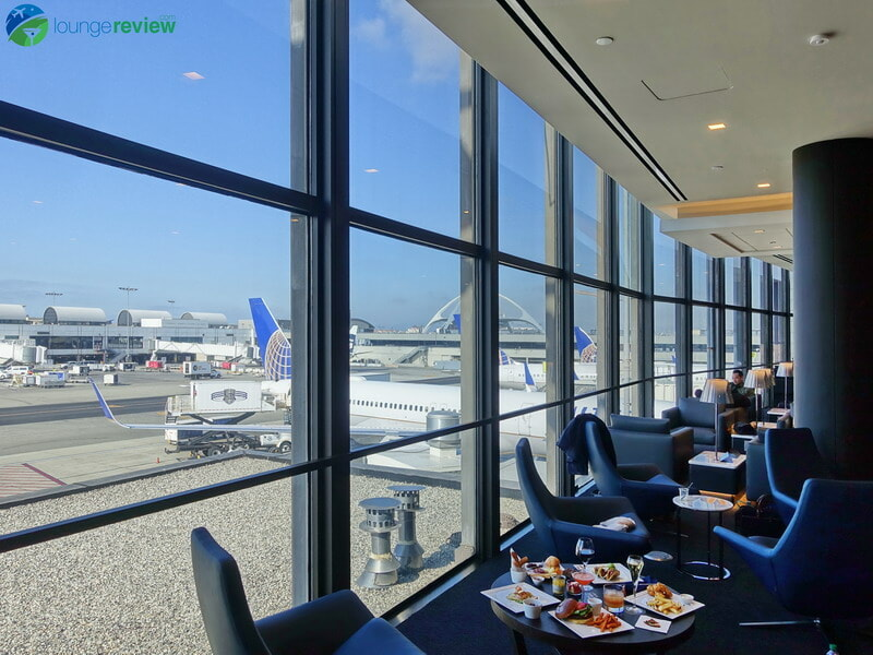 United Polaris Lounge LAX tarmac and runway views