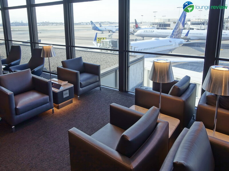 United Polaris Lounge LAX seating